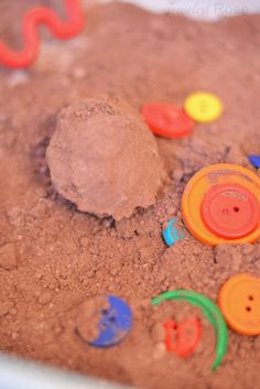 Gingerbread Cloud Dough.  Easy to make, lots of fun for kids to play with, and makes the whole house smell AMAZING!!