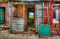 abandoned shacks, lower Sugarloaf Key