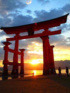 japan, sunset
