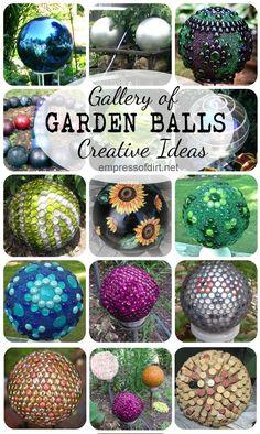 Gallery of creative garden balls with free tutorial at www.empressofdirt.net