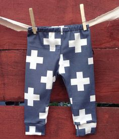 Navy plus  Baby leggings, infant leggings, organic cotton leggings, printed leggings