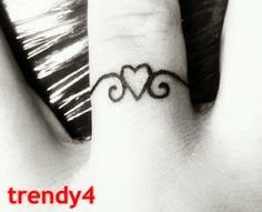 Marriage Ring Tattoos 2014 ring tattoo 2014... A little first initial of my future husband on the inside of the heart <3