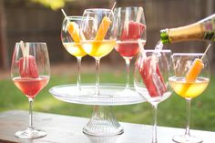 OMG. Popsicle champagne. Put popsicle in wine glass. Poor champagne over. BRILLIANT.