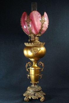 Victorian kerosene lamp.