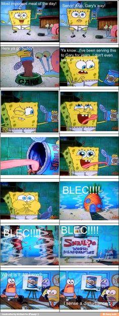Spongebob Tastes Gary's Food