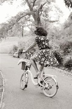 Love the bike and the dress!