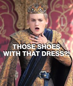 Joffrey Baratheon, fashion critic. Modified from a pin by WhoWhatWear. Photo: Macall B. Polay/courtesy of HBO