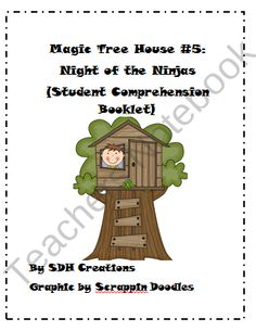 Magic Tree House 5: Night of the Ninjas (Student Comprehension Booklet ...