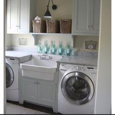 diy home decor, dreams, dream homes, laundry room design, dream hous, sink, dream laundry rooms, laundri room, dream laundri