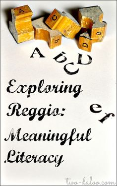 An overview of how literacy is incorporated in the Reggio Emilia Approach.