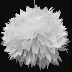 White Fluffy Decorations from Windy City Novelties