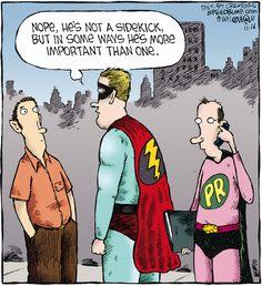 PR can be a superhero