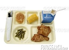 The school cafeteria...those cooks did their best and kids still complained...I don't recall ever having fried chicken or corn on the cob though!