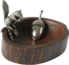 Squirrel Nut Bowl with Acorn Scoop