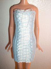 Blue Lace Up Dress for Barbie