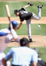Chicago White Sox pitcher, Chris Sale.    And he's off to the All Star Game!!