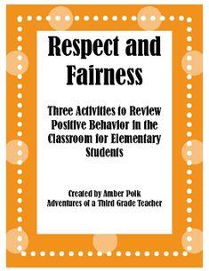 respect fairness friendship activities freebie
