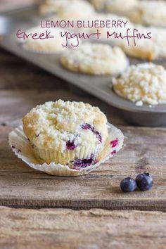 Lemon Blueberry Greek Yogurt Muffin