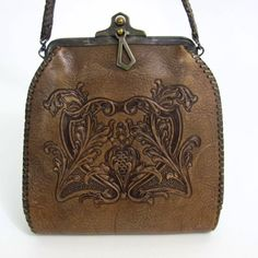 Beautiful HandTooled Floral Art Nouveau Leather by BoudoirBarbie, $150.00