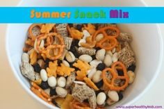 Summer Snack Mix - sweet, salty and healthy! Perfect for your little snackers this summer.