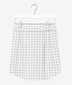 Shirttail Skirt in Windowpane