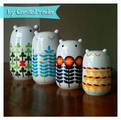 Gorgeous storage jars