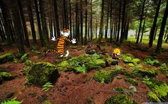<3. Calvin and Hobbes Photoshopped into Real Life Scenes - Michael Den Beste.