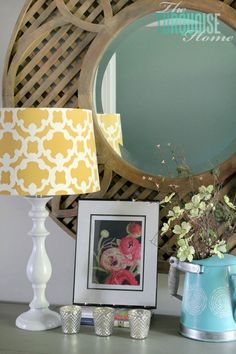 Easy DIY Lamp Makeover with Paint by Ace Blogger, @turquoisehome