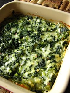 Skinny cheesy spinach dip