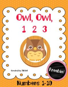 This is a set of 2 math centers that focus on the Numbers 1-10. The owl theme makes them great for Back to School or anytime!
