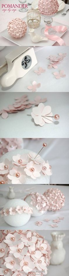 I'm going to do this with bright paper and hang them from my ceiling!