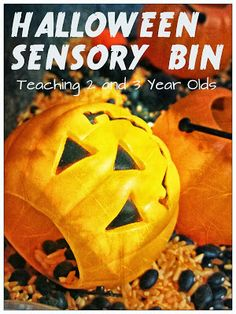 Teaching 2 and 3 Year Olds: Halloween Sensory Play for Preschoolers