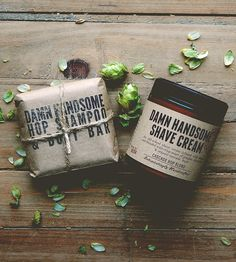 Hops Shampoo & Shave Set - Made with homegrown organic hops