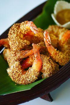 Sesame Shrimp with H