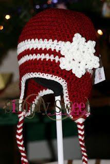 Free Crochet Snowflake Hat Pattern.