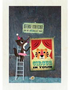 Circus Poster www.roseandgrey.uk
