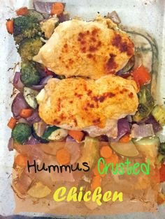 Hummus Crusted Chicken - easy dinner idea  | BusyButHealthy.com