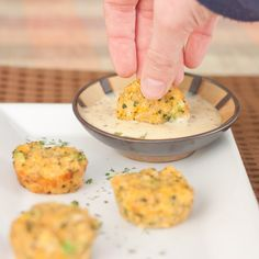 Broccoli cheese quinoa bites