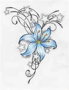 basic hand-drawn flower tattoo