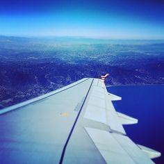 View over Santa Monica & Malibu from a Virgin America A320