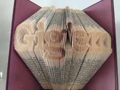 Gig 'em - Texas A&M University - Folded Book Sculpture on Etsy, $55.00