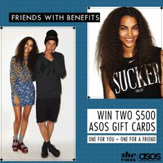 Enter to win a $500 ASOS gift card for yourself and one for your BFF!