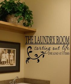 The Laundry Room Vinyl Wall Decal Decor Lettering by landbgraphics, $21.99
