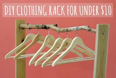 clothing rack with tree branch?