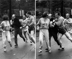 Boston Marathon race director trying to force Katherine Switzer out of the race