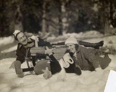 Walt Disney, wife Lillian, and Mickey Mouse on a Winter vacation - 1935