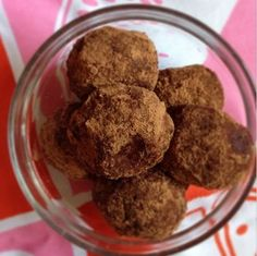 Healthy chocolate almond butter truffles (yum!)
