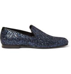 Jimmy Choo's glitter slippers, $595