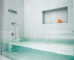 baths, cleanses, glasses, dream, bathtubs, bathrooms, bathroom designs, glass tiles, design bathroom