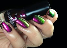 Dance Legend - 092 Roz: magenta base, gold/green color shift #nail #polish